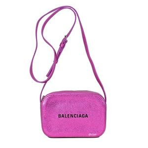 Balenciaga Everyday XS Camera Metallic Effect Bag